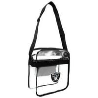 Little Earth - NFL Clear Carryall Cross Body Bag, Oakland Raiders