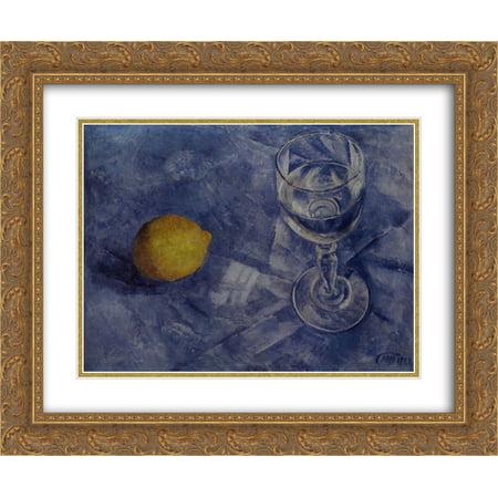 Kuzma Petrov Vodkin 2x Matted 24x20 Gold Ornate Framed Art Print 'Glass and (Gold Frame Polo Glasses)