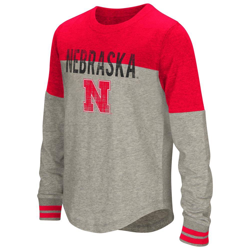 Youth Girls' Baton Nebraska Cornhuskers Long Sleeve Shirt