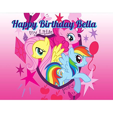 My Little Pony Birthday Cake Kit (My Little Pony Edible Image Photo Cake Topper Sheet Personalized Custom Customized Birthday Party - 1/4 Sheet -)