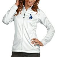 Los Angeles Dodgers Antigua Women's Golf Full-Zip Jacket - White