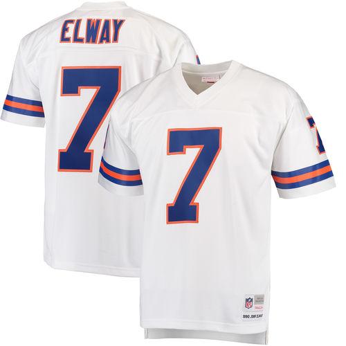 Men's Mitchell & Ness John Elway White Denver Broncos Replica Retired Player Jersey