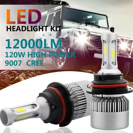 2x H13 72W 16000LM 6500K Car COB LED Headlight Kit Light Bulbs Night Lighting Car Driving Fog Light