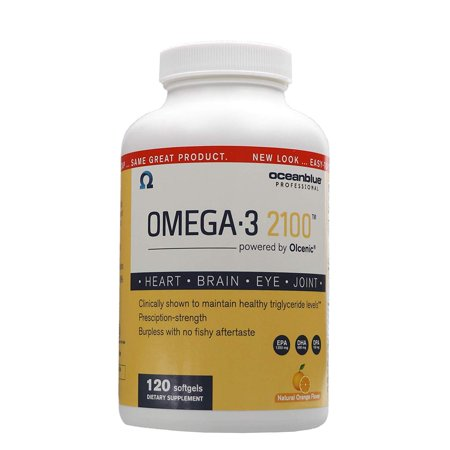 Ocean Blue Professional Omega-3 2100 with Olcenic Softgels, 120