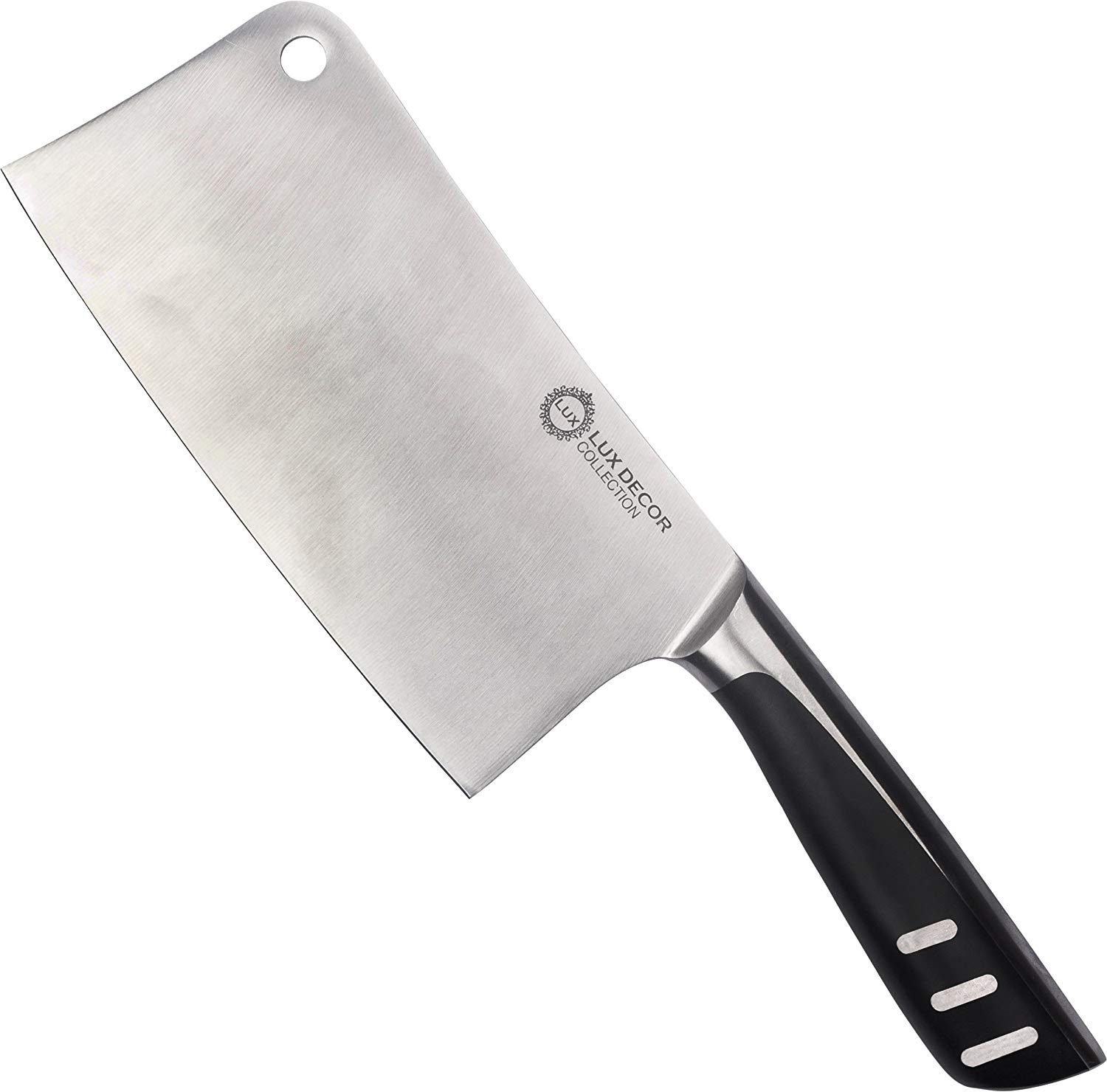 7 Inch Stainless Steel Cleaver � Butcher Knife � Chopper For Home Kitchen and Restaurant � High Carbon... by Lux Decor Collection