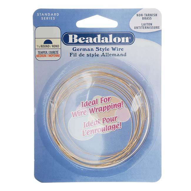 Brass Half Round German Style Craft Wire 22 Gauge/.025In 5M