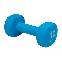 - Gaiam Neoprene Hand Weight, Blue, 10 lb