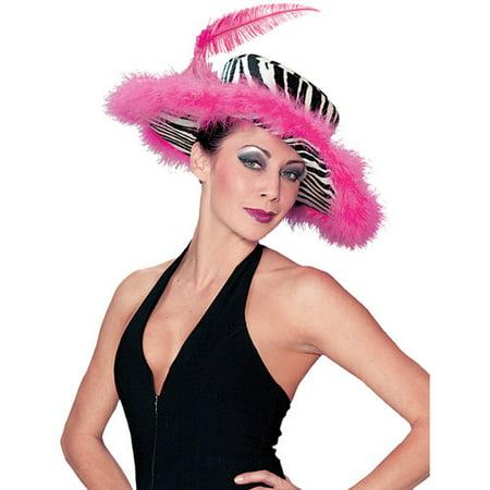 Pink Zebra Hat Adult Halloween