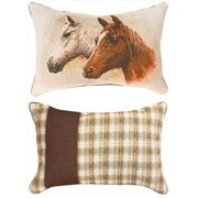 Field Of Dreams Thoroughbred Horses 18 X 24 Inch Throw Pillow