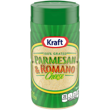 (2 Pack) Kraft 100% Grated Parmesan & Romano Cheese Shaker, 8 oz