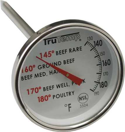 TRUTEMP Meat Thermometer,120 to 190F 3504