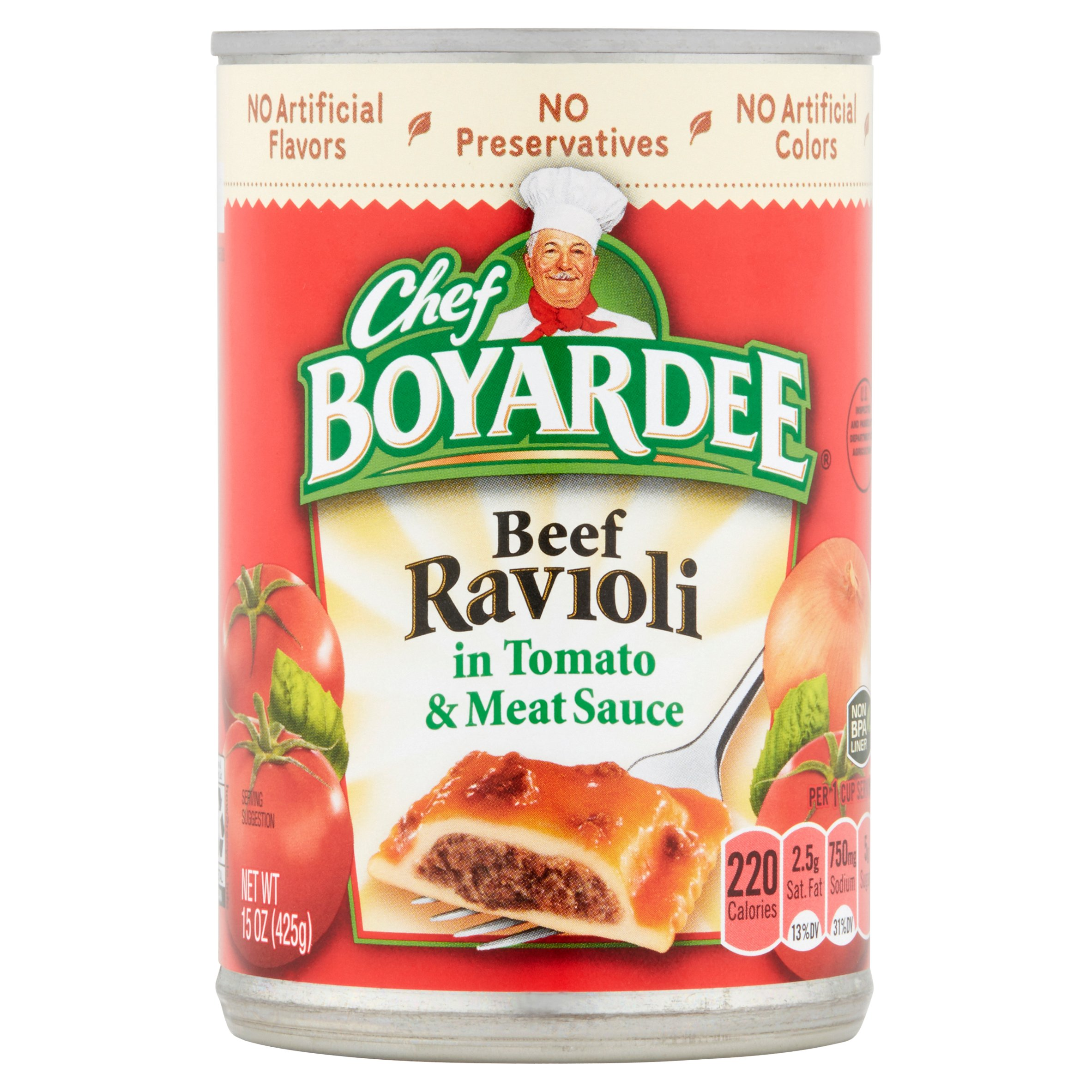 Chef Boyardee Beef Ravioli in Tomato & Meat Sauce 15oz by ConAgra Foods®