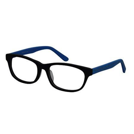 Ebe Unisex Wooder Black Blue Wayfarer Full Rim Regular Hinge Reading Glasses c1226 - Cheap Wayfarer Glasses