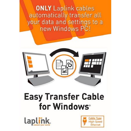 Laplink Easy Transfer Cable for Windows (1 Use)