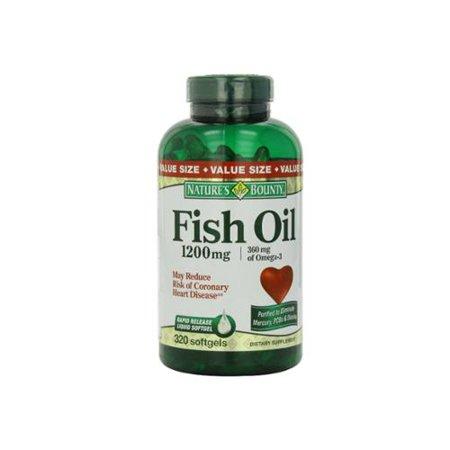 Nature's Bounty oméga-3 Huile de poisson 1200 mg gélules 320 bis (Paquet de 2)