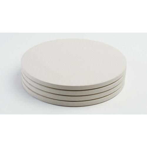 "Pizzacraft Round Mini Pizza Stones / Set 4 - 8"""