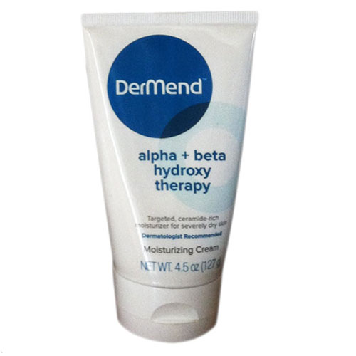 Dermend Alpha + Beta Hydroxy Dry Skin Therapy Moisturizing Cream - 4.5 Oz