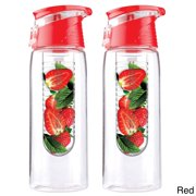 Adnart Pure Flavour 2 Go Tritan Plastic Water Bottles with Built in Fruit Diffuser (Set of 2)