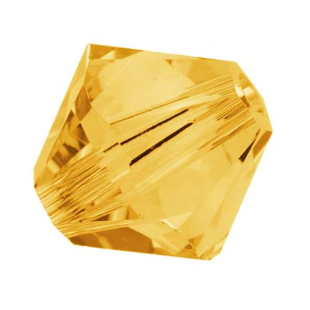 Swarovski Crystal, #5328 Bicone Beads 4mm, 24 Pieces, Sunflower