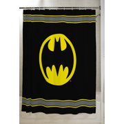 "Batman Kids Bathroom Decorative Fabric Shower Curtain, 72"" x 72"