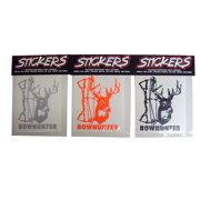 Graphic Designs BOWHUNTER with Buck Head and Bow Vinyl Decal Sticker, 26