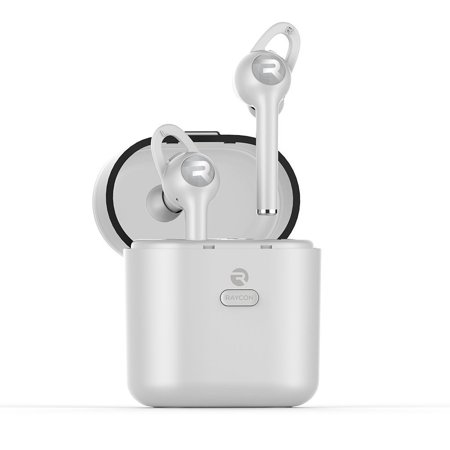 d5b9d627043 Raycon E60 True Wireless Earbuds Noise Cancelling In-Ear Bluetooth  Headphones with Charging Case - White - Walmart.com
