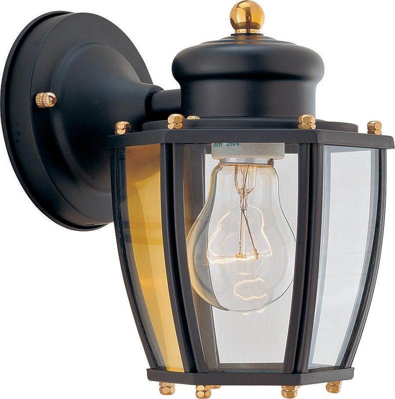 Boston Harbor 6750764 Dimmable Outdoor Lantern, (1) 60/13 W Medium A19/CFL Lamp, Black