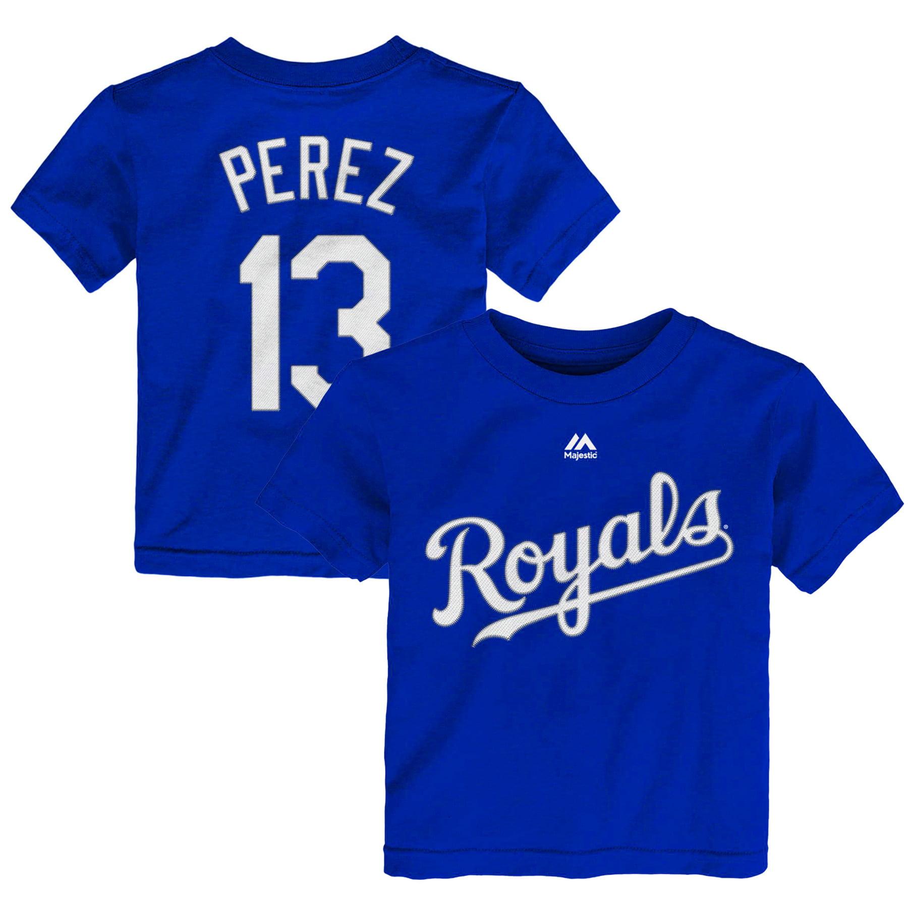 Salvador Perez Kansas City Royals Majestic Toddler Player Name & Number T-Shirt - Royal