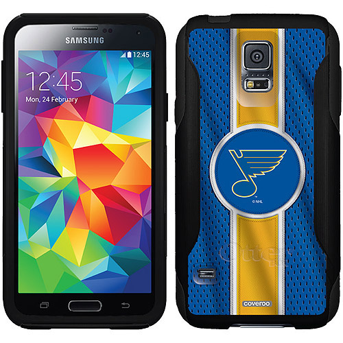 St. Louis Blues Jersey Stripe Design on OtterBox Commuter Series Case for Samsung Galaxy S5
