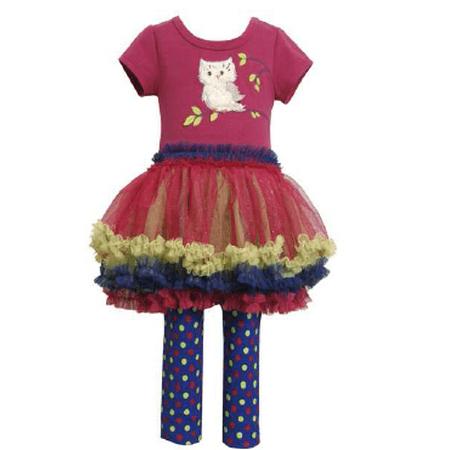Bonnie Jean Girls Newborn - 6X Owl Tutu Legging Set 12 months