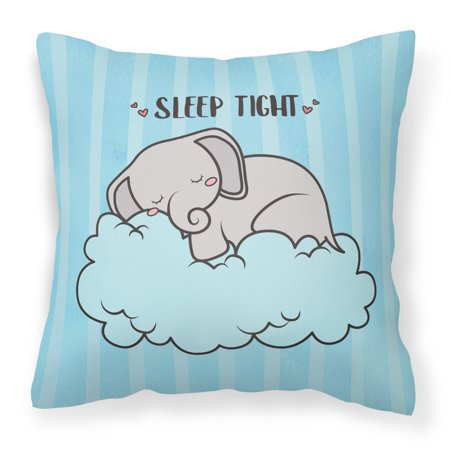 Nursery Sleep Elephant Fabric Decorative Pillow Bb7475pw1414