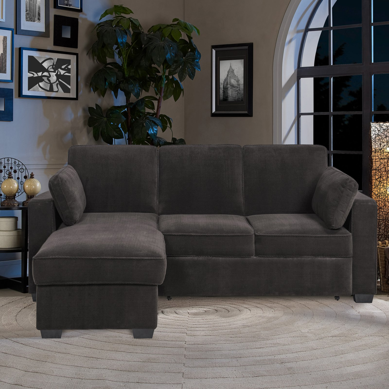 Serta Cory Dream Convertible Pull Out Sectional Sofa