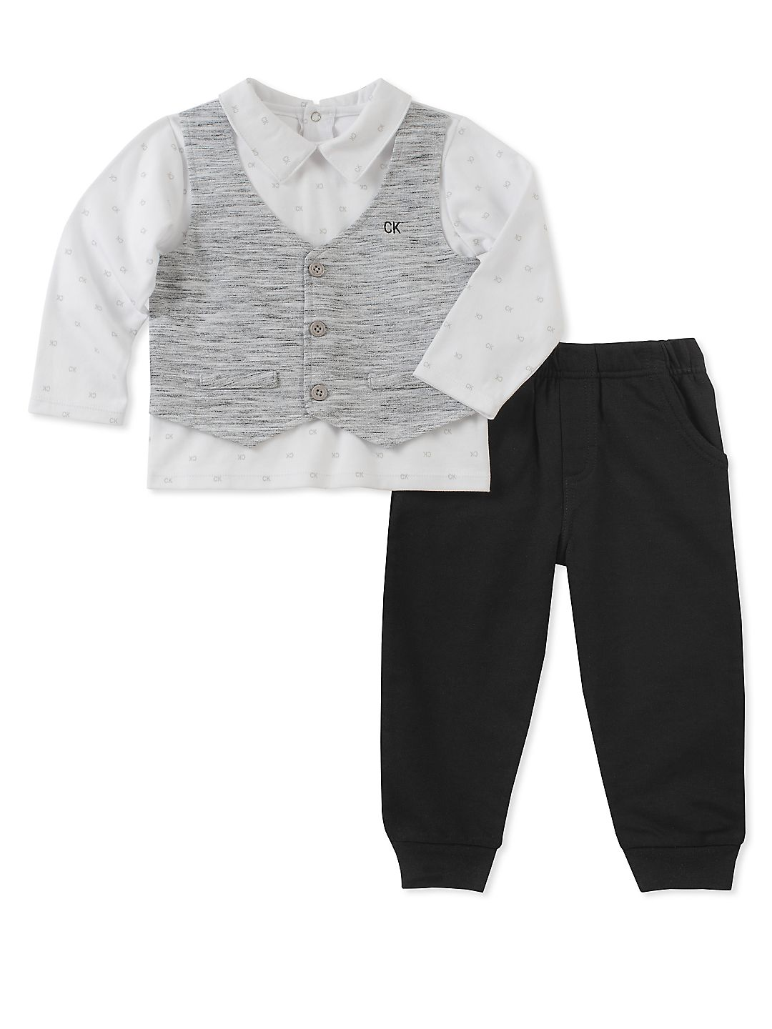 Baby Boy's Two-Piece Vested Top & Pants Set