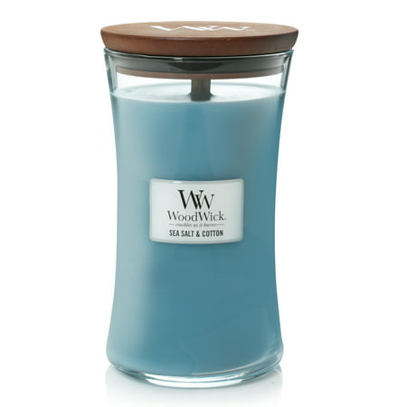 WoodWick Sea Salt & Cotton - Large Hourglass Candle