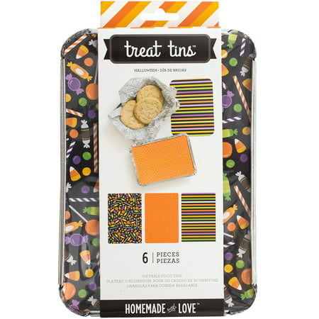 Homemade With Love Food Craft Tins Large 3/Pkg-Halloween - Homemade Halloween