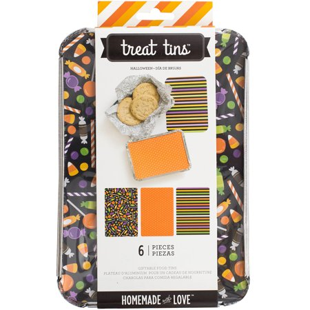 Homemade With Love Food Craft Tins Large 3/Pkg-Halloween
