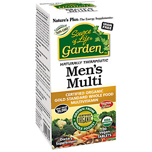 Source of Life Garden Organic Mens Multi Nature's Plus 90 Tabs