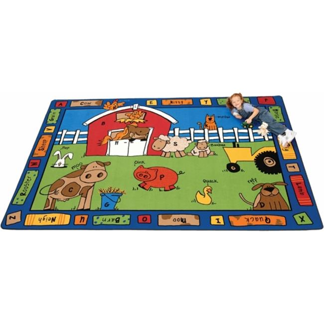 Carpets For Kids 5212 Alphabet Farm 8.33 ft. x 11.67 ft. ...