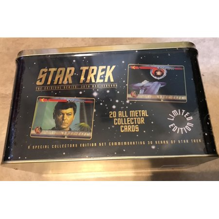 Star Trek 30th Anniversary Metal Tin w/ 20 All Metal Collector 30th Anniversary Trading Cards NEW factory sealed.  Original Series, First Edition