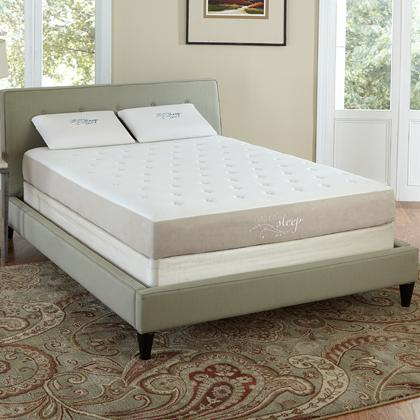 "Natures Sleep 78525350 Belize 8.5"" Quilted Gel Memory Foam Mattress (Queen)"