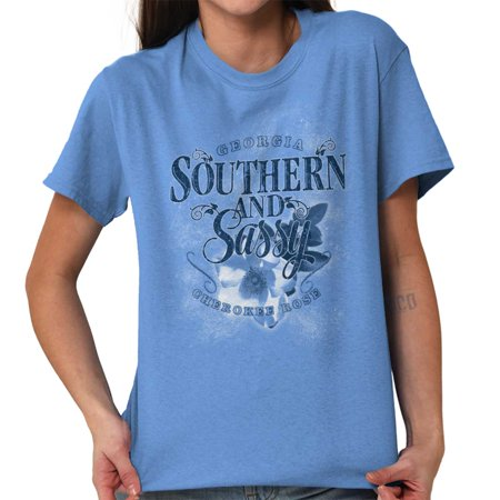 Brisco Brands Sassy Southern Georgia Belle GA Lady Short Sleeve T Shirt - Southern Belle Outfit