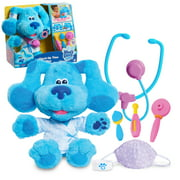 Blue's Clues & You! Check-Up Time Blue Lights and Sounds Interactive 13-Inch Plush, 7-Piece Pretend Play Doctor Set