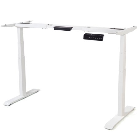 Gymax Electric Height Adjustable Standing Desk Frame Dual Motor & Memory