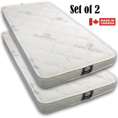 Viscologic Budget Quilted Reversible Flippable Bunk Bed 6 Inch Foam Mattress Set Of 2 Mattresses Twin Single Walmart Canada
