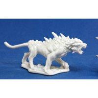 Reaper Miniatures Hell Hound #77038 Bones Unpainted Plastic D&D RPG Mini Figure