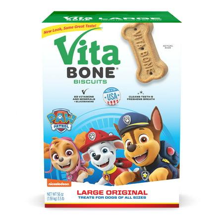 Vita Bone Paw Patrol Original Large Crunchy Biscuit Dog Treats, 56-oz box Original Rescue Dog