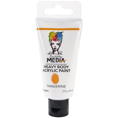 Dina Wakley Media Heavy Body Acrylic Paint 2Oz Tangerine