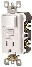 Leviton Smartlockpro 2-Pole Tamper-Resistant Combo Gfci Receptacle   Rocker Switch, White,... by Leviton