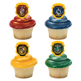 24 Harry Potter Hogwarts Houses Cupcake Cake Rings Birthday Party