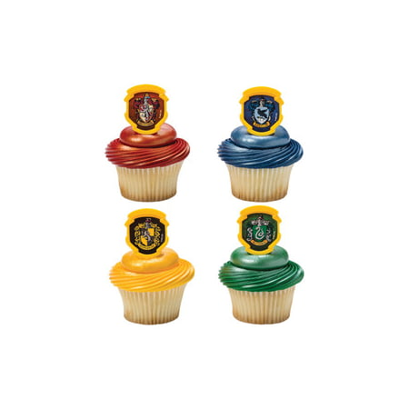 12 Harry Potter Hogwarts Houses Cupcake Cake Rings Birthday Party Favors - Cupcake Rings Wholesale